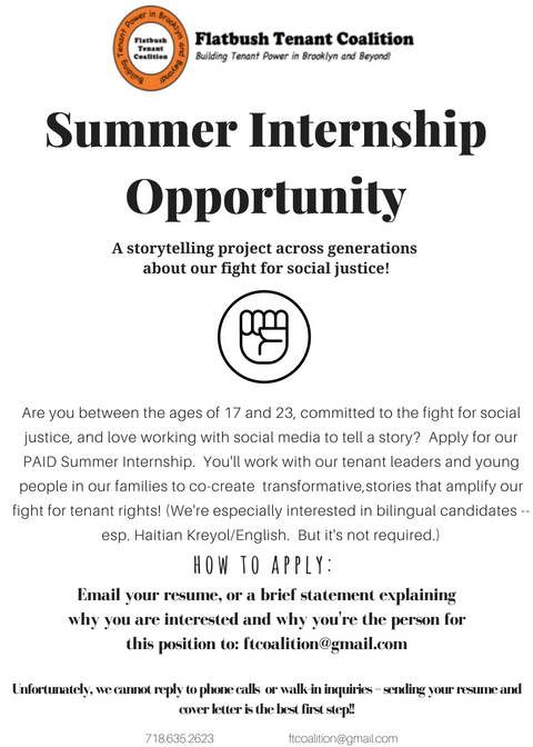 Summer Internship Opportunity 2018